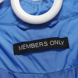 Members Only Jackets & Coats - Members Only Jacket Blue Zip Up Lightweight Small